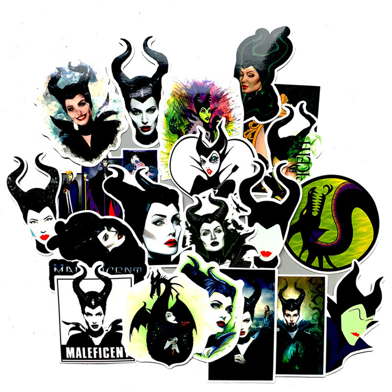 20pcs Maleficent Witch Cartoon Anime 90s Toy Stickers Packs Anime Paster Cosplay Scrapbooking Diy Phone Laptop Decoration Gift