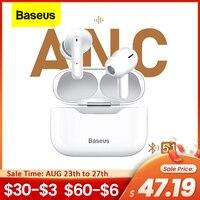 Baseus-Bluetooth 5.1ワイヤレスヘッドセット,アクティブノイズキャンセル,イヤホン,hi-fi,タッチコントロール