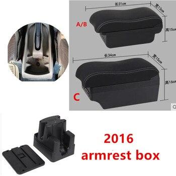 Para Toyota Avanza 2016 reposabrazos caja apoyabrazos universal compartimento central para coche accesorios de modificación con USB