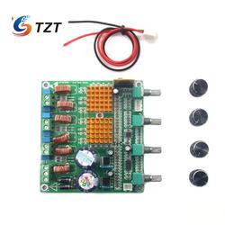 TZT HS-AUDIO Receiver Digital 2.1 Class D HIFI Power Amplifier Board 3CH Super Bass Amp Grade Fever TPA3116D2 100w+50w+50w
