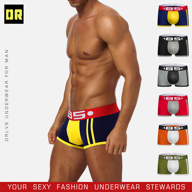 BS Cotton Boxershorts Men Comforable Panties Set трусы мужские боксеры  Gay Sexy Underwear Man Boxer 5Color Free Shiping