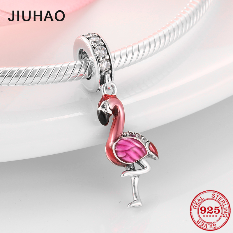 Bracelets Charm Beads Jewelry-Making Flamingo 100%925-Sterling-Silver Original Pandora