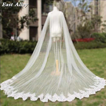 Cathedral Length Wedding Cape Veil  Bridal Cloak Lace Long Bridal Accessories Manto - DISCOUNT ITEM  0% OFF All Category