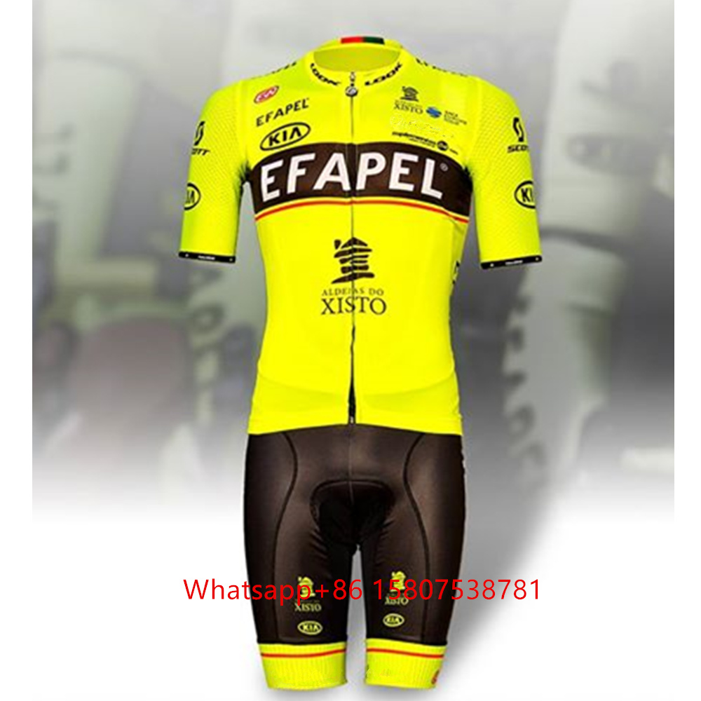 2020 EFAPEL vetements <font><b>velo</b></font> hommes XISTO maillot mtb Fluorescent Summer <font><b>Short</b></font> Sleeve Cycling jersey Set Portugal bicycle suit image