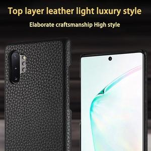 Image 3 - Cuir véritable pour samsung A70 A40 S9 S10 Note 10 S6 S7 edge Plus coque de téléphone en peau de vache s20ultra