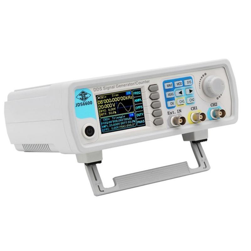 Eu Plug Jds6600-60M 60Mhz Signal Generator Digital Control Dual-Channel Dds Function Signal Generator Frequency Meter Arbitrary