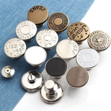 Replacement Jean Buttons No Sew Instant Button 17mm Detachable Pants Button