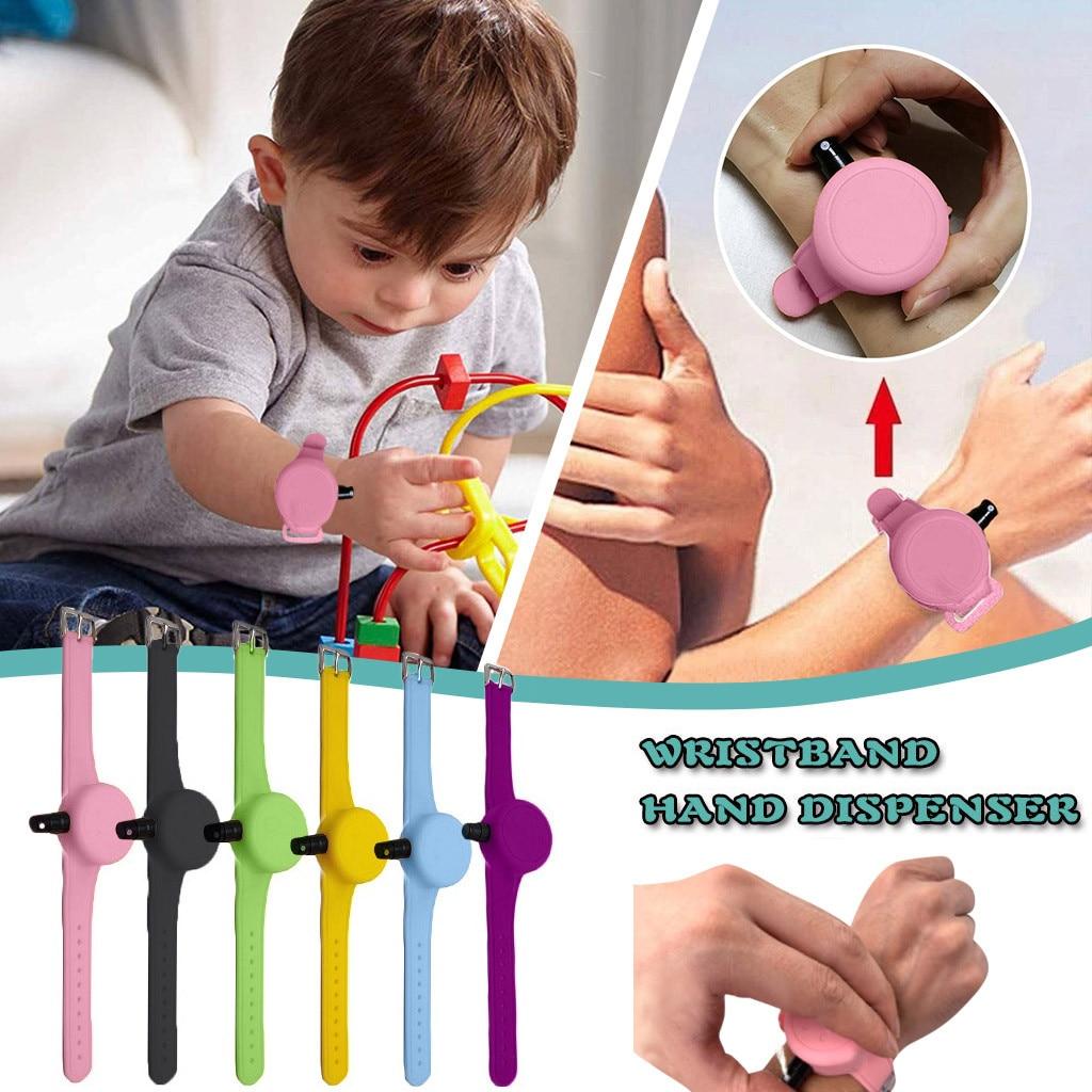 Wristband Hand Sanitizer Silicone Bracelet Liquid Wristband Hand Dispenser Handwash With Whole Sanitizing Mano de pulsera