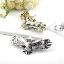 New Trendy Metal Eagle Bird Hairpins Headdress Hairgrips clip For Girl Women Hair Accessories Jewelry Gift europe trendy hair clips for women starfish shell shape 2 color metal sticks pearl hairpins jewelry gift for girlfriend yha007