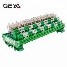 цена на GEYA 2NG2R 12 Channel  Relay Module 2NO 2NC 12VDC 24VDC DPDT Relay PCB BOARD