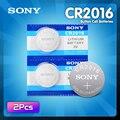 2 шт., литий-ионные батарейки для Sony CR2016 3 в DL2016 ECR2016 LM2016 BR2016 CR 2016