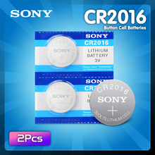 2Pcs For Sony CR2016 3V Lithium li-liom Battery DL2016 ECR2016 LM2016 BR2016 CR 2016 Button cell Coin Batteries watch toys