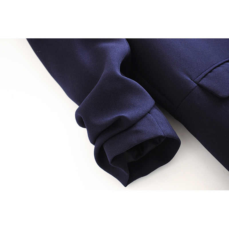 Za 2020 패션 블레이저 여성 3 색 빅 턴 다운 칼라 카디건 포켓 커프 폴드 우아한 블레이저 나인 포인트 슬리브 옷