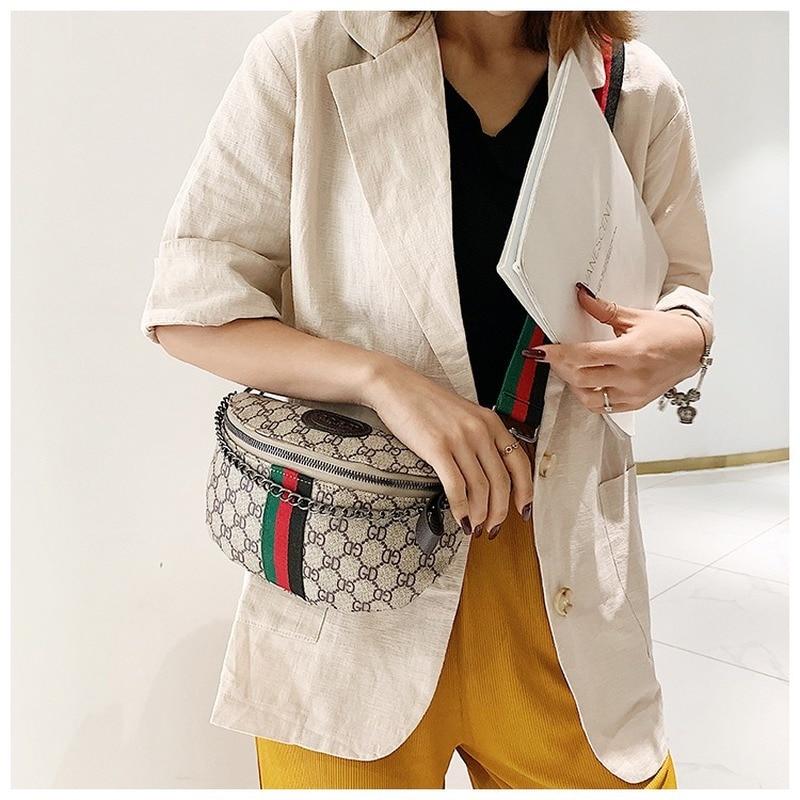 New Style Women's Bag Korean Leisure Chest Bag Waist Bag All Kinds Of Small Bag Chain Single Shoulder Messenger Chest Bag