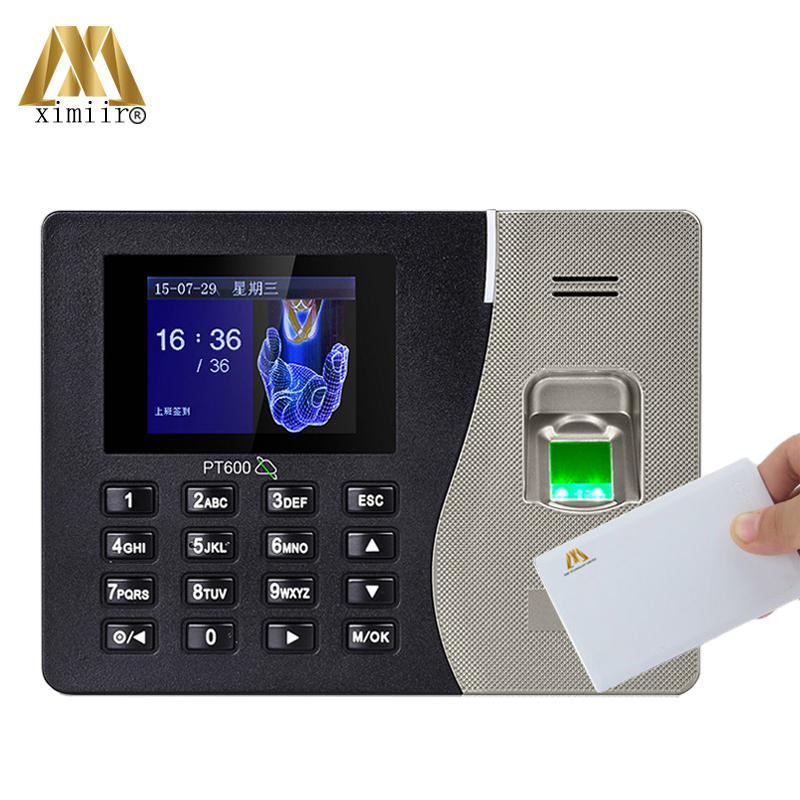 Biometric Fingerprint Time Attendance System PT600 ZK With TCP/IP USB With 13.56KHZ MF IC Card Time Attendance Recorder
