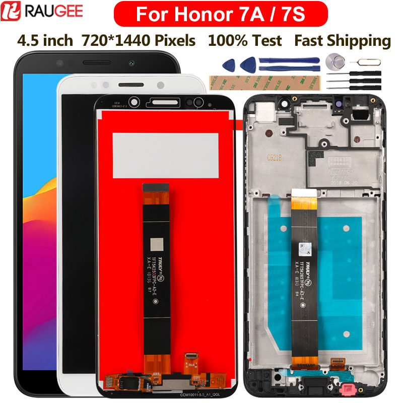 5.45 inch <font><b>Display</b></font> For <font><b>Huawei</b></font> <font><b>Honor</b></font> 7A DUA-L22 LCD <font><b>Display</b></font> Touch Sceen Replacement For <font><b>Honor</b></font> 7A 7S DUA-LX3 L12 <font><b>Display</b></font> With <font><b>Frame</b></font> image