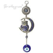 Роза турецкий синий сглаза Стразы Луна Сова настенные подвесные
