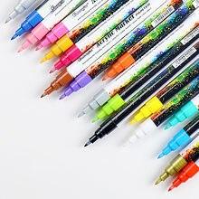 Rotulador de pintura acrílica, 18 colores, 0,7mm, para cerámica, Roca, vidrio, porcelana, taza, tela de madera, pintura en lienzo