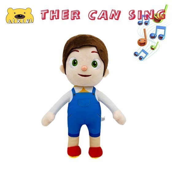 JJ Cocomelon Toys Doll Cocomelon Jj Doll Sing Kids Toys for Boys Cocomelon Bedtime Jj Music Doll Family Kid Gift Anime Plushie 5