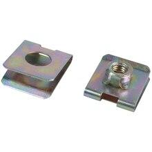 20 x металлическая пружина u-типа пластина гайка скоростные зажимы M6 для защиты панели автомобиля