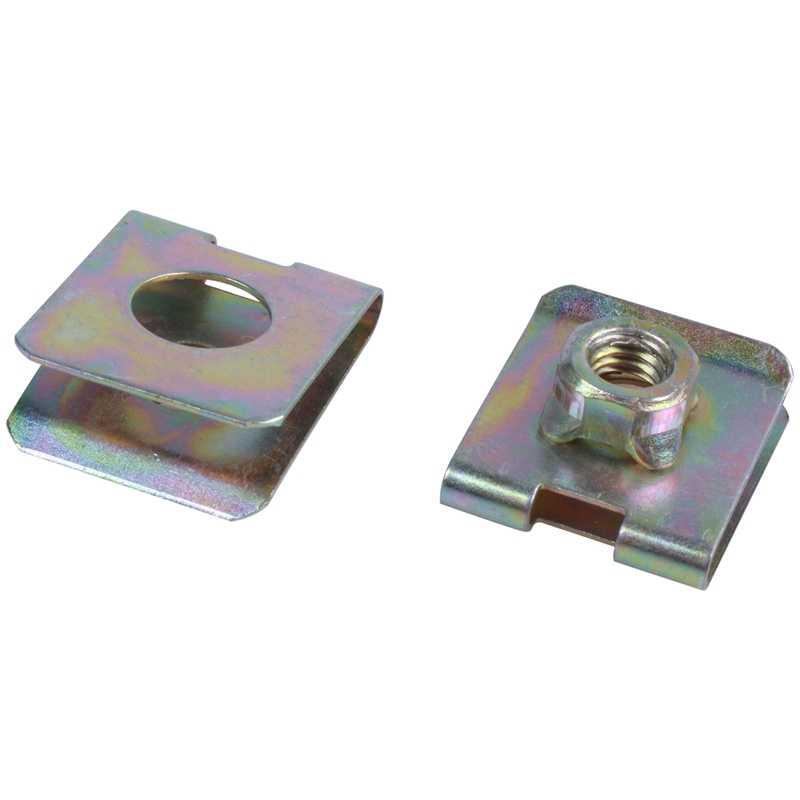 20 clips de velocidad M6 de tuerca de placa de tipo U de resorte metálico para la defensa del Panel del coche
