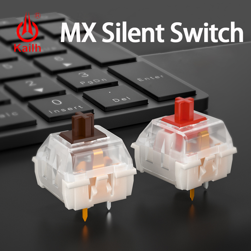 Kailh MX Silent Switch Gaming Mechanical Keyboard Diy RGB/SMD Red Brown Switch  Compatible Cherry MX