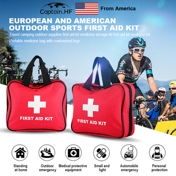 US Captain First Aid Bag Outdoor Sports Camping  Emergency Survival First Aid Kit Bag Rescue Health Tools vacuum venom extractor outdoor first aid kit snake poison bee venom blood extractor pump survival rescue emergency safety tool