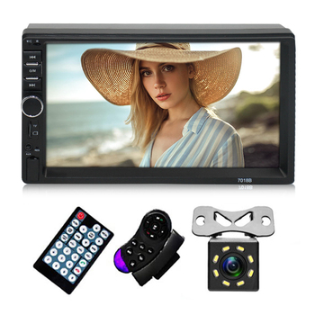 2 Din Car Radio MP5 Player 7 HD Touch Screen Auto Audio Double Stereo Multimedia Bluetooth USB TF FM Camera