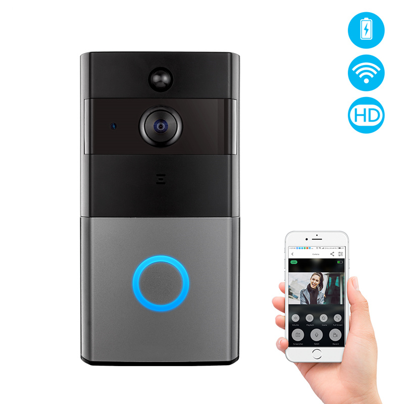 1080P Tuya WiFi Video Doorbell with Two-Way Video Intercom PIR Motion Detect Support Google Alexa Remote Baby Care Monitor