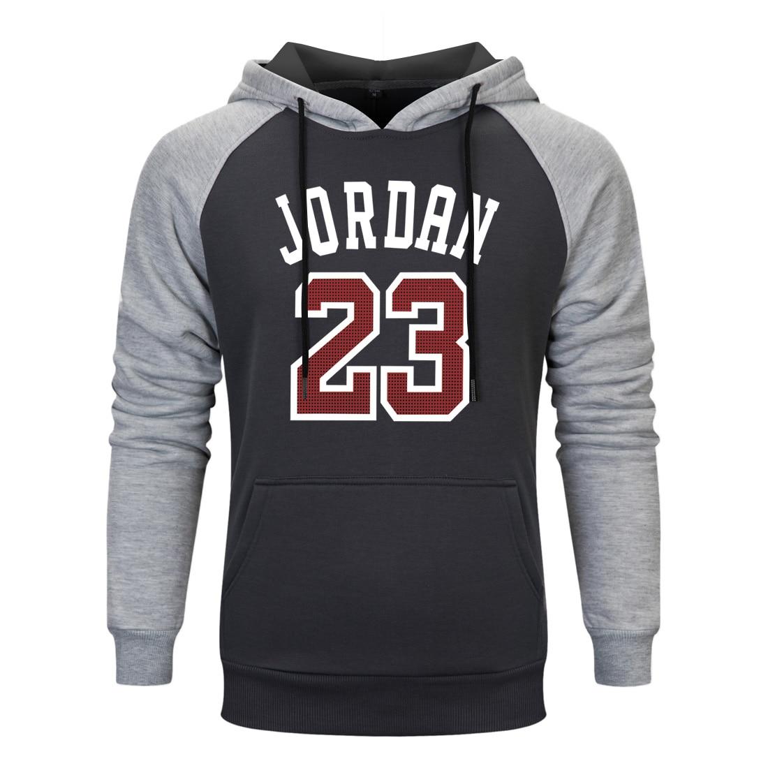 2019 Brand Male Hip Hop Long Sleeve NO. 23 Hooded Sweatshirt Mens Hoodie Tracksuit Sweat Coat Men Casual Sportswear Hoodies