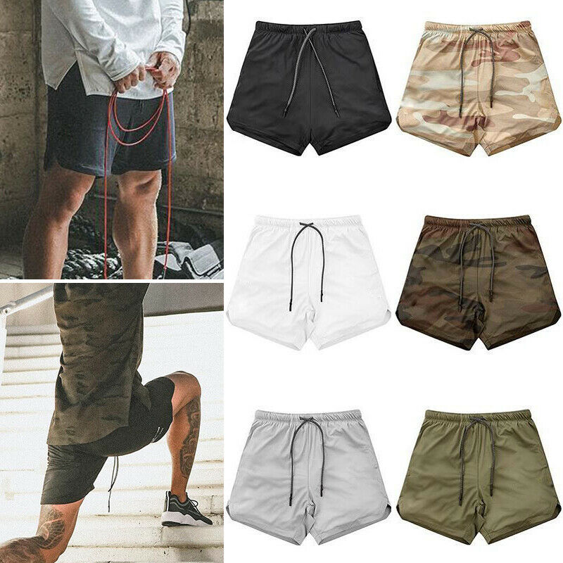 Men/'s Sport Training Bodybuilding Summer Shorts Workout Fitness GYM Short Pants