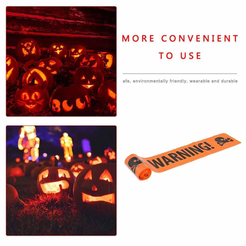 Halloween Cordon Isolasi Sabuk Plastik Pe Tengkorak Tape Paskah Peringatan Tape Pesta Halloween Prop Dekorasi