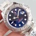 Luxus Marke Neue Männer Automatische Mechanische Uhr Silber Schwarz Blau Grau Edelstahl Yacht Uhren Master Sapphire Glas AAA +