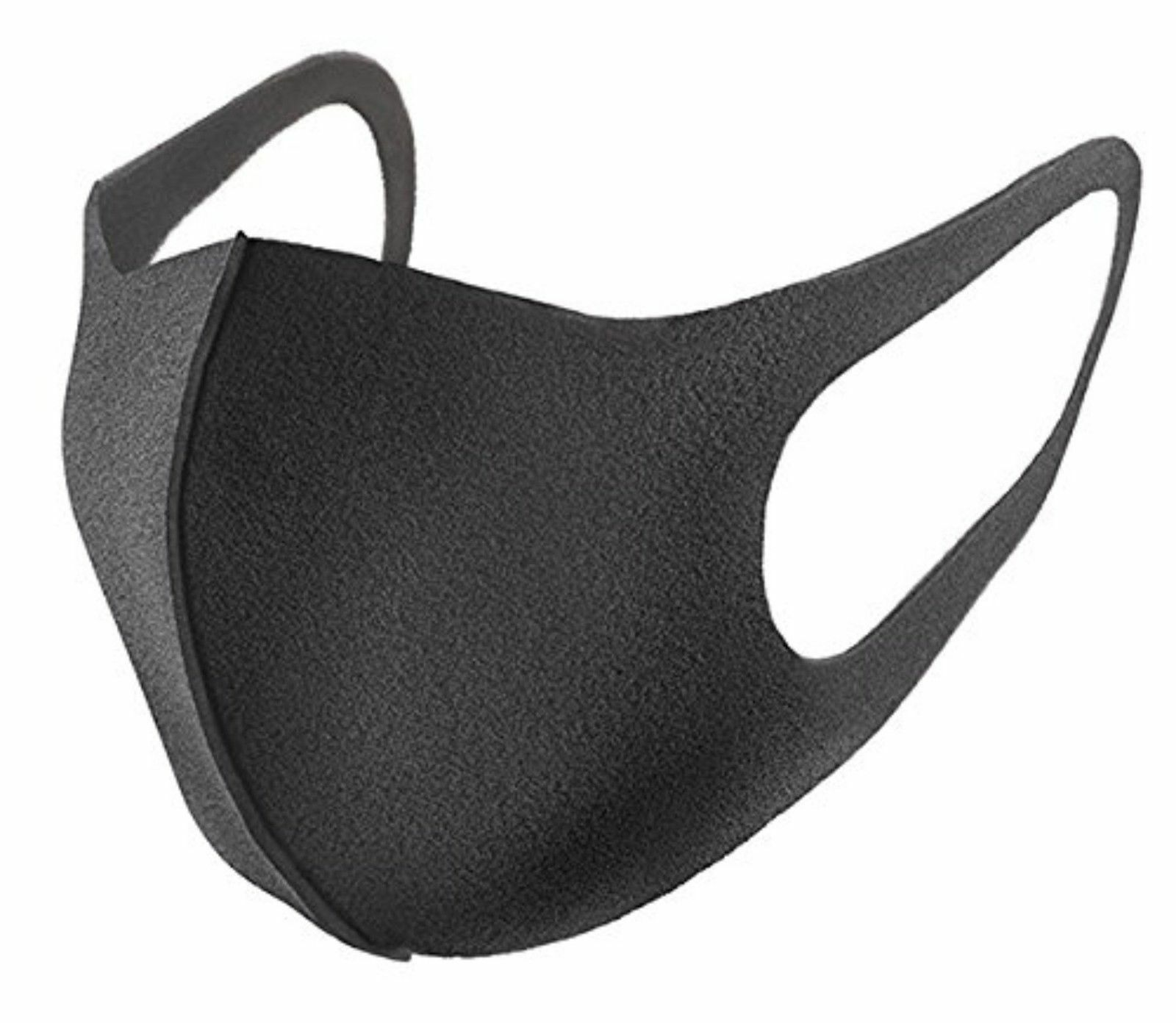 3/6pcs Regular Size Black Mask Dark Gray Anti-Pollution Outdoor Dust Face Mask For Men And Women