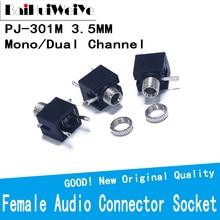 Female 10pcs/Lot Audio-Connector Headphone-Jack 3-Pin-Dip PJ301M Socket-Mono/dual-Channel