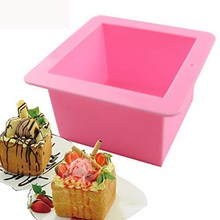 Square Soap Silicone Mold Flexible Handmade Chocolate Loaf Bar Mould DIY Cake Toast Bread Molds
