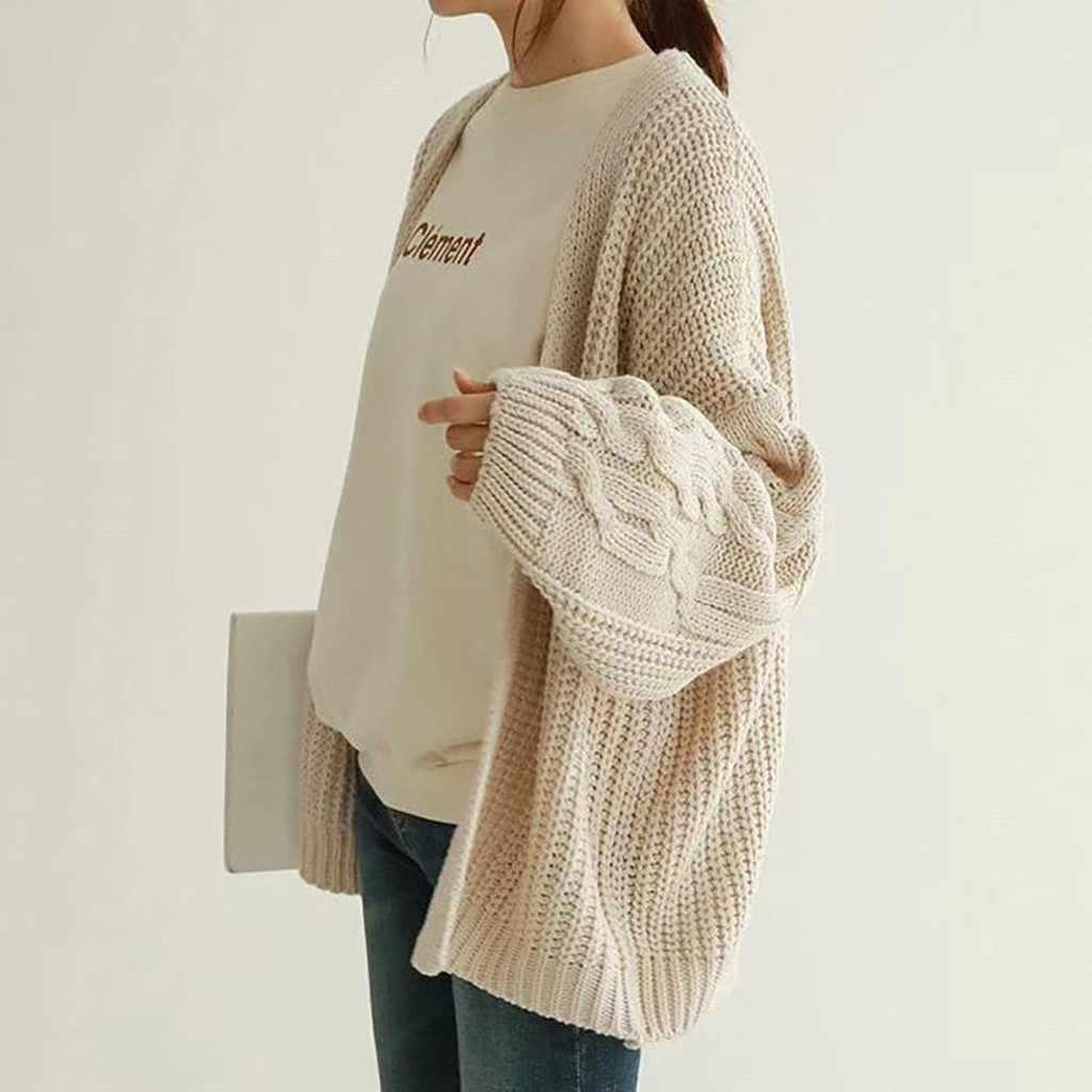40 @ wilden lose pullover Frauen Solide Langarm Taste Strickjacken Pullover Cardigans Knit Top Bluse neue produkt