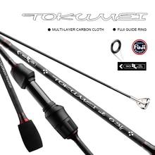 TOKUMEI Spinning fishing rod ULPower lure rod 1.77M 2.07M Length Carbon Fiber Fishing Rod Fuji Guides 0.8 5g Lure Weight
