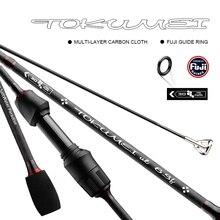 Tokumei fiação vara de pesca ulpower isca vara 1.77m 2.07m comprimento de fibra de carbono vara de pesca fuji guias 0.8 5g peso isca