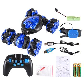 2.4G Electric Race Stunt RC Car Double Sided 360 Degree Rotating Gesture Sensor Toy Off Road Car With Light And Music
