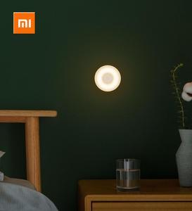 Image 4 - Xiaomi Mijia Led indüksiyon gece lambası 2 lambası ayarlanabilir parlaklık kızılötesi akıllı insan vücudu sensörü manyetik tabanı ile