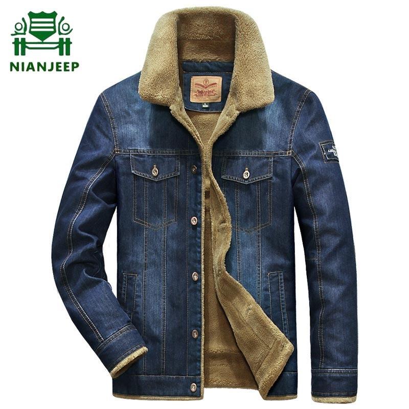 2020 Fashion Denim Jacket Men Brand Outwear Cowboy Coats Male Cowboy Clothing Male Winter Wool Liner Warm Mens Jackets Plus Size