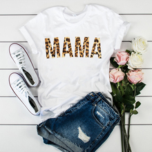 2020 Women mom leopard letter print mother clothes T-shirts tops graphic woman