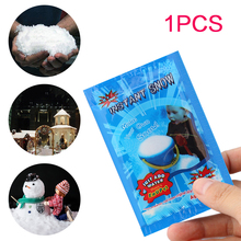 1pc Fake Magic Instant Snow Artificial Festival Party Decorations for Christmas Wedding Snowflakes  E