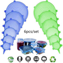 Covers-Set Stretch Lids Kitchen-Tools-Accessories Food-Bowl Airtight Universal Silicone