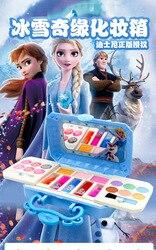 Disney frozen elsa anna Toys princess cute Makeup Sets box  Non-toxic princess Material Girls Birthday Gifts Beauty toys