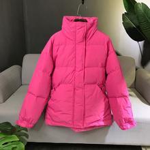 ファッション白アヒルダウン女性の冬のコートショート厚み暖かいダウンパーカー女性ルース冬のジャケットの女性コート 新 2019