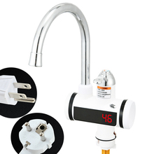 110V Electric Flow Water Heater 220V Tankless Hot Water Faucet for Home Portable Instantaneous Water Heater Tap