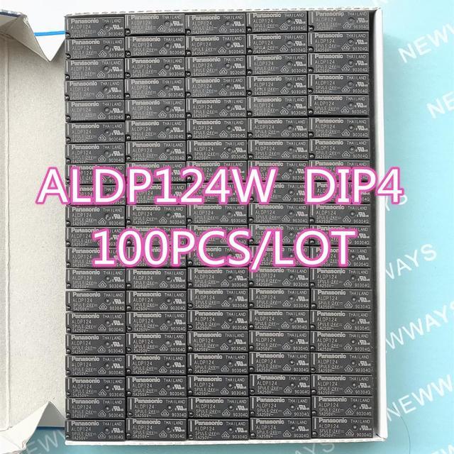 100 개/몫 릴레이 Aldp124 Aldp124W 24V 5A 250V Dip4 새로운