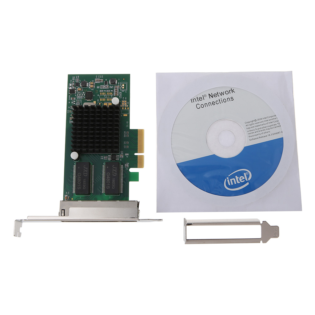 Drop Ship <font><b>Intel</b></font> <font><b>I350</b></font>-<font><b>T4</b></font>-QY Chip PCI-Express PCI-E Four RJ45 Gigabit Ports Server Adapter NIC image